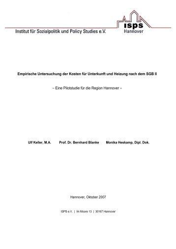 Empirische Untersuchung der Kosten für Unterkunft und Heizung ...