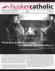 """""""If we were to live as we ought, we would set the ... - Newman Center"""