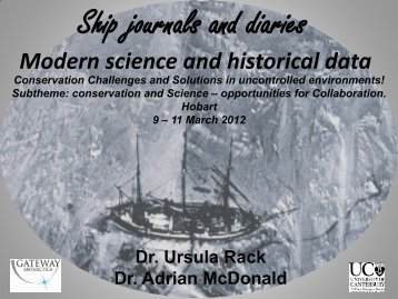 Ship journals and diaries - International Polar Heritage Committee