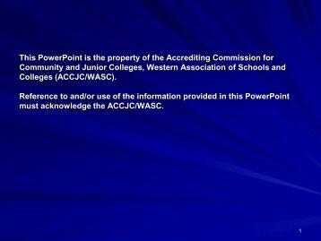 ACCJC Regional Workshop Presentation on Program Review for ...