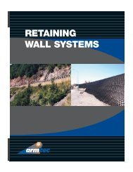 RETAINING WALL SYSTEMS - Armtec