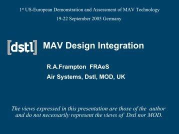 MAV Design Integration - eroMAV