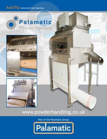 Auto Tip - Palamatic Powder Handling - AutoTip Datasheets 2012