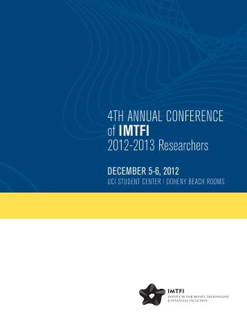 Conference program and bios - Institute for Money, Technology and ...