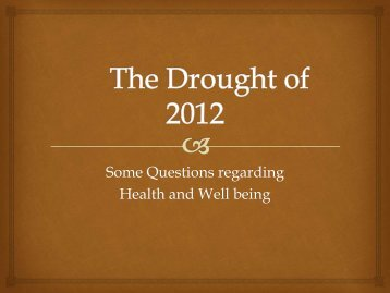 health and the 2012 drought- andy kerr-wilson