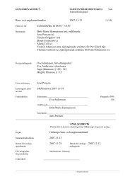 Barn- och ungdomsnämnden 2007-11-13 1 - Grästorps kommun
