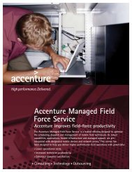Accenture Managed Field Force Service