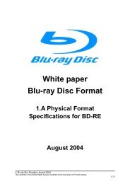 White paper Blu-ray Disc Format - DISC Archiving Systems