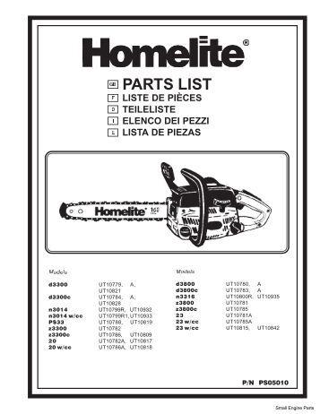 Homelite Zr Series S825sdv Manual