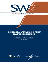 Hospice Social Work: Linking Policy, Practice, and Research