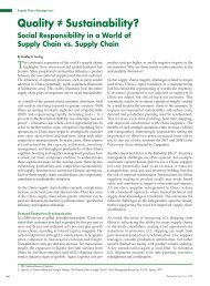 Quality ≠ Sustainability? - Kong and Allan Consulting