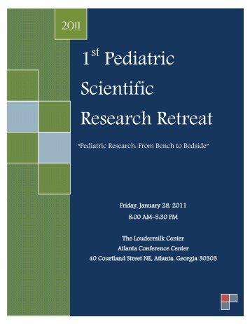 Final Program - Emory Children's Center Research Office