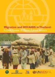 Migration and HIV/AIDS in Thailand: A desk review of Migrant ...