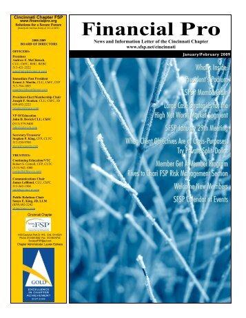 Jan09/Feb09 Financial Pro Newsletter - Sfsp.net