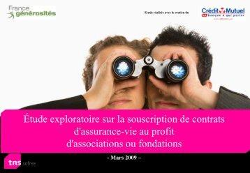 Consulter l'étude sur les assurances-vies de France Générosités