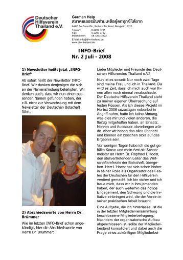 INFO-Brief Nr. 2 Juli - 2008 - dhv-thailand