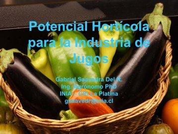 Potencial Hortícola para la Industria de Jugos