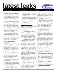 July 2008 - Missouri Petroleum Storage Tank Insurance Fund (PSTIF)