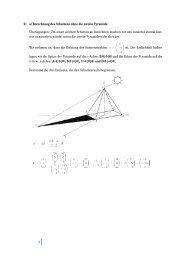 1 2) a) Berechnung des Schattens ohne die zweite ... - Amustud
