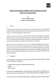 Aero-Control of contamination and major factors of - Polysoude