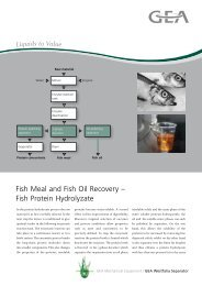 Fish Meal and Fish Oil Recovery - GEA Westfalia Separator