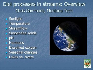 Diel changes in streamflow - NJ Water Resources Research Institute