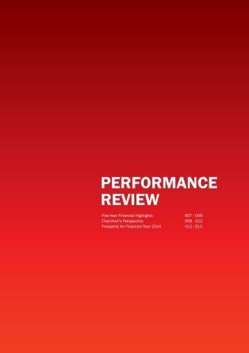 Performance Review (1.23 MB ) - Gamuda Berhad - Investor Relations
