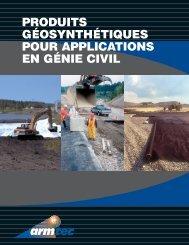 produits géosynthétiques pour applications en génie civil - Armtec