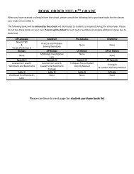 Book Order List: 11th Grade - Frederica Academy