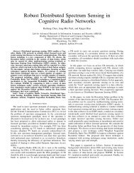 Robust Distributed Spectrum Sensing in Cognitive Radio ... - ARIAS