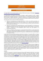 Gruppo di Lavoro Diversità e cittadinanza Anno Europeo dei ...