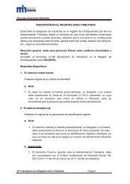 Folleto Informativo No. 1 Inscripción Registro de Contribuyentes