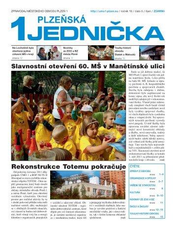 říjen 2011, 16 stran (PDF, 2,35 MB) - Portál městského obvodu Plzeň 1