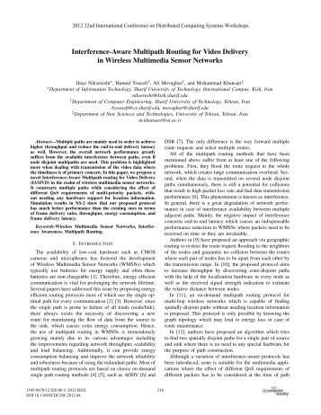Interference-Aware Multipath Routing for Video Delivery in Wireless ...