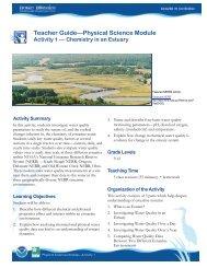 Teacher Guide—Physical Science Module - Estuaries NOAA