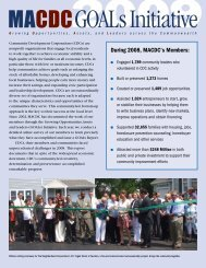 2009 GOALs Report - Massachusetts Association of Community ...
