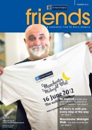 Friends newsletter - St Ann's Hospice