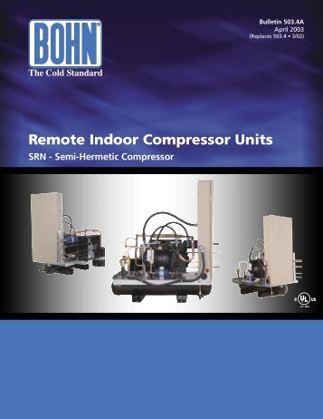 Remote Indoor Compressor Units - Bohn