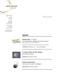 Lettre janvier 2008 - Cantina del Mulino