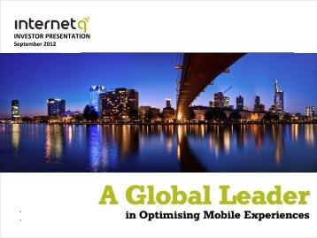 H1-2012 Investor Presentation.pdf - InternetQ
