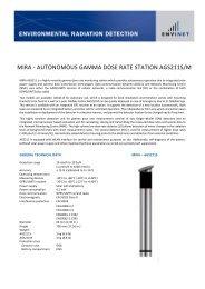 MIRA - AUTONOMOUS GAMMA DOSE RATE STATION AGS211S/M
