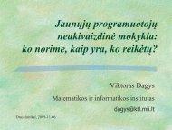 Jaunųjų programuotojų mokykla - Matematikos ir informatikos ...
