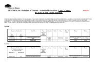 SUMMER 2013 Schedule of Classes – School of Education: LACC ...