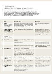 Checkliste Küche in MINERGIE®- und MINERGIE-P®-Gebäuden