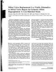 Mitral Valve Replacement Is a Viable Alternative to Mitral Valve ...