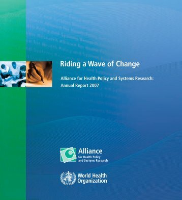 Riding a Wave of Change - Alliance for Health Policy and Systems ...