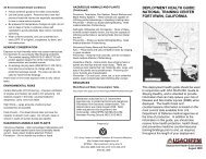 deployment health guide: national training center fort irwin, california