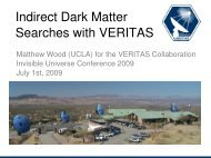 Indirect Dark Matter Searches with VERITAS - Univers Invisible