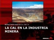 La Cal en la Industria Minera 2011 - Anfacal