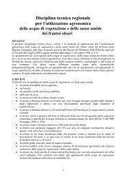 Disciplina tecnica regionale - Regione Campania